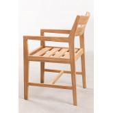 Chaise de jardin avec accoudoirs en bois de teck Yolen, image miniature 3