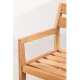 Chaise de jardin avec accoudoirs en bois de teck Yolen, image miniature 4