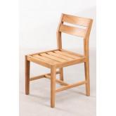Chaise de jardin en bois de teck Yolen, image miniature 2