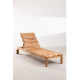 Chaise longue en bois de teck Kurni, image miniature 3