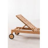 Chaise longue en bois de teck Kurni, image miniature 5