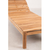 Chaise longue en bois de teck Kurni, image miniature 6