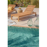 Chaise longue en bois de teck Kurni, image miniature 1
