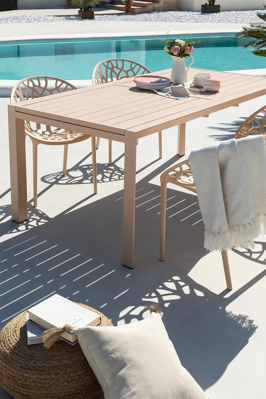 Table de jardin extensible rectangulaire en aluminium (180-240x100 cm) Starmi, image de la galerie 1