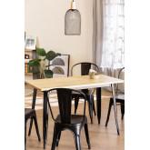 Table LIX Vintage en Bois (120x60), image miniature 1