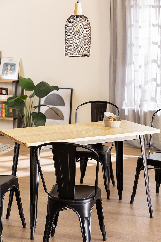 Table LIX Vintage en Bois (120x60), image de la galerie 1