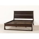 Lit en bois de teck pour matelas Somy 160 cm, image miniature 5