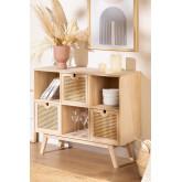 Buffet en bois de style Ralik avec tiroirs, image miniature 1
