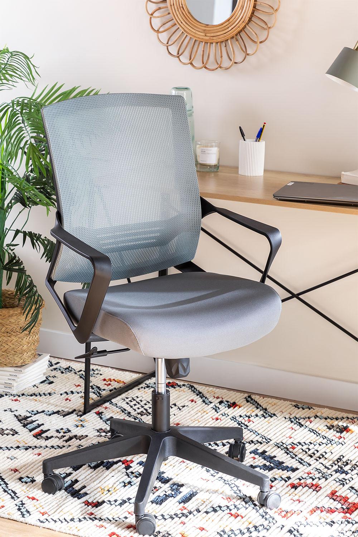 Chaise de bureau avec roues, couleurs de travail, image de la galerie 1