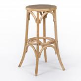Tabouret haut en bois naturel Thon, image miniature 1