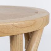 Tabouret haut en bois naturel Thon, image miniature 3