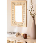 Miroir mural rectangulaire en bois (60x40 cm) Frey, image miniature 1