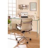 Table de Bureau en Verre Transparent Hista, image miniature 1