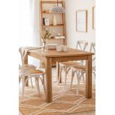 Table à manger rectangulaire en bois (150x85 cm) Alya , image miniature 1