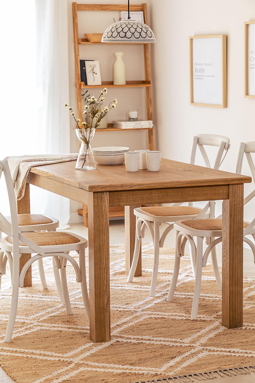 Table à manger rectangulaire en bois (150x85 cm) Alya , image de la galerie 1