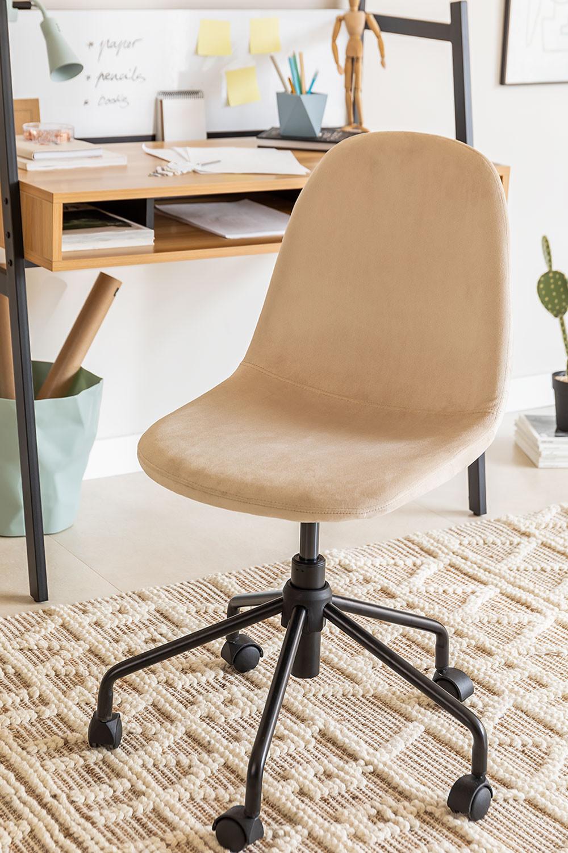 Chaise de bureau en velours Glamm, image de la galerie 1