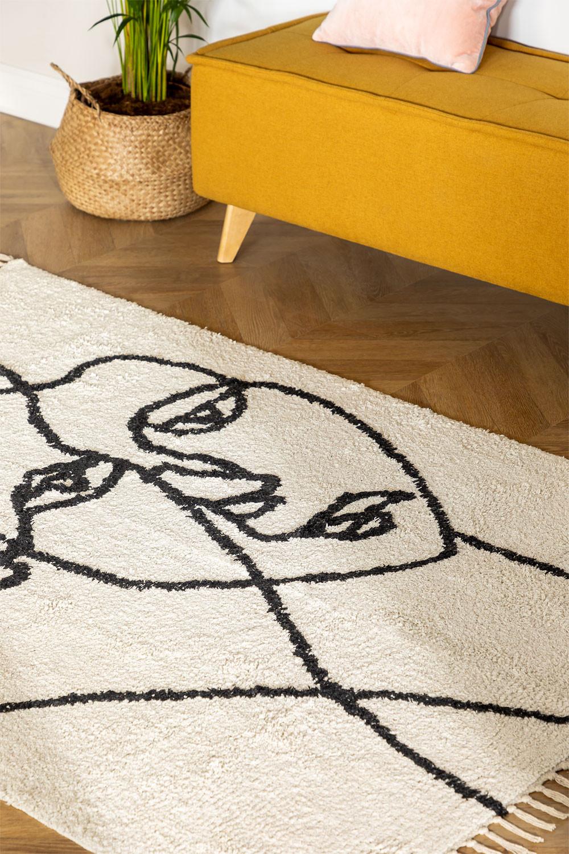 Tapis en coton (185x125 cm) Fäsy, image de la galerie 1