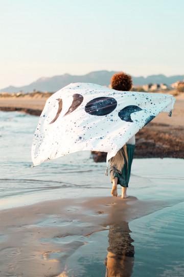 Paréo de plage en coton Akuarella
