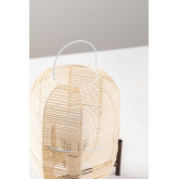 Lampe de table Damien en osier , image miniature 3