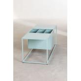 Table basse avec porte-revues en métal Blas, image miniature 3