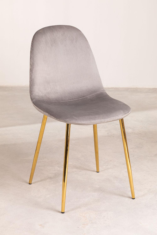 Lot 4 chaises en velours côtelé Glamm, image de la galerie 1