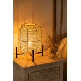 Lampe de table Damien en osier , image miniature 2
