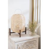 Lampe de table Damien en osier , image miniature 1