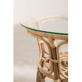 Table d'appoint ronde en rotin et verre (Ø50 cm) Maast, image miniature 5