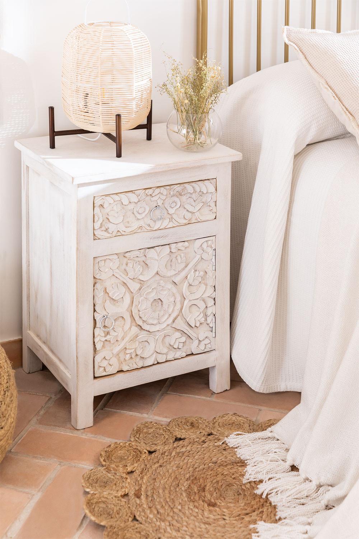 Table de chevet en bois Dimma, image de la galerie 1