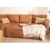 Canapé-lit d'angle 3 places en tissu Anders, image miniature 3