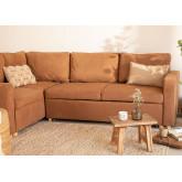 Canapé-lit d'angle 3 places en tissu Anders, image miniature 1