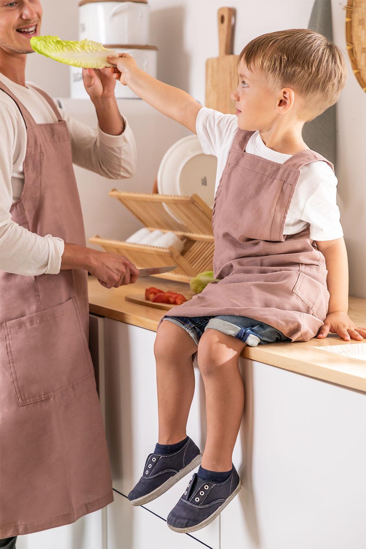 Set 2 Tabliers Adulte et Enfant Violet, image de la galerie 1