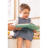 Tablier en lin et coton Violet Kids, image miniature 1