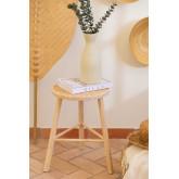 Tabouret Bas en Rotin et Bois Riolut, image miniature 1