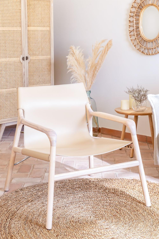 Chaise avec accoudoirs en similicuir, image de la galerie 1