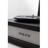 LECTEUR DE DISQUES COMPACT - Tourne-disque rétro avec Bluetooth, USB, SD, MicroSD et lecteur/enregistreur Mp3 - Create, image miniature 5