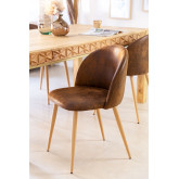 Chaise de salle à manger rembourrée en similicuir Kana, image miniature 1