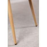 Pack de 4 Chaises de salle à manger avec accoudoirs en Velours Kana, image miniature 6