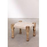 Tabouret bas en macramé et bois de Kiron, image miniature 2