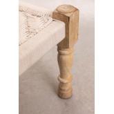 Tabouret bas en macramé et bois de Kiron, image miniature 4