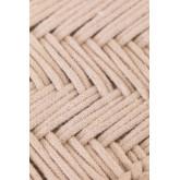 Tabouret bas en macramé et bois de Kiron, image miniature 6