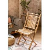 Chaise de salle à manger pliante en bambou Yakku, image miniature 1