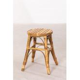 Tabouret bas en bambou Ovne, image miniature 3