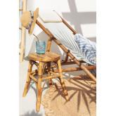 Tabouret bas en bambou Ovne, image miniature 2