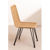 Chaise de salle à manger en osier Sunset Vali , image miniature 3