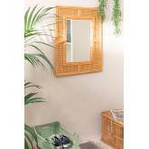 Miroir mural rectangulaire en rotin (75x61 cm) Masit , image miniature 1