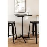 Table de bar pliante et transformable en 2 hauteurs en acier (60x60 cm) Dely , image miniature 2