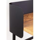 Bureau en bois et métal Verthia, image miniature 6