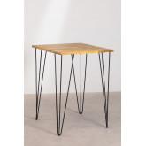 Table haute carrée en manguier (80x80 cm) Meriem, image miniature 2