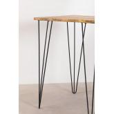 Table haute carrée en manguier (80x80 cm) Meriem, image miniature 4